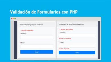 Validación de Formularios con PHP [Ejemplo Completo]