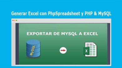 Generar Excel con PhpSpreadsheet y PHP & MySQL