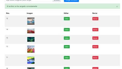 Ajax carga de múltiples imágenes con PHP MySQL