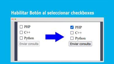Habilitar Botón al seleccionar checkboxes