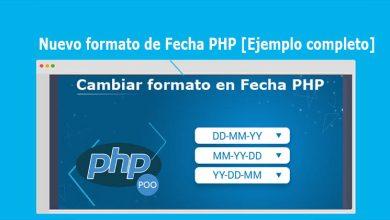 Nuevo formato de Fecha PHP [Ejemplo completo]