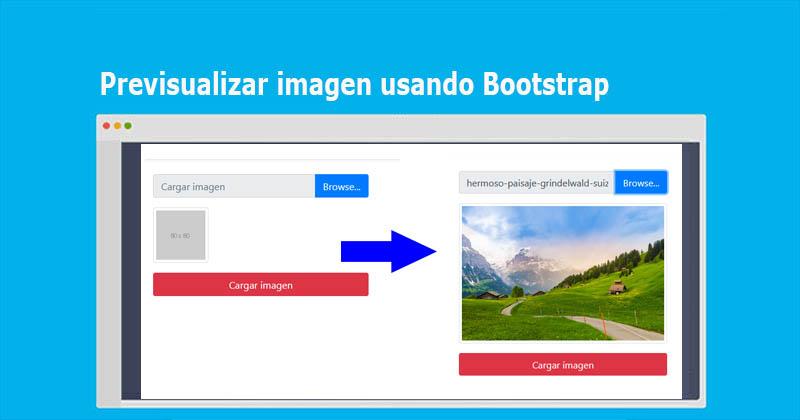 Previsualizar imagen usando Bootstrap