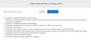 Subir varios archivos con Vue.js y PHP
