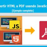 Convertir HTML a PDF usando JavaScript