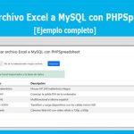 Importar archivo Excel a MySQL con PHPSpreadsheet